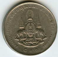 Thaïlande Thailand 1 Baht 2539 ( 1996 ) 50 Ans De Régne De Rama IX KM 330 - Thaïlande