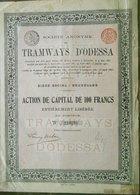 Société Anonyme Des Tramways D'Odessa TRAM  ( Aandeel Obligation Action ) - Chemin De Fer & Tramway