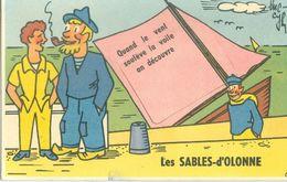 (85) Carte à Système : Quand Le Vent Soulève La Voile On Découvre Les SABLES-D'OLONNE - Sables D'Olonne
