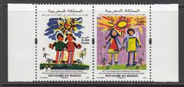2013 Morocco Maroc  UN Children's Rights    Complete Pair MNH - Morocco (1956-...)