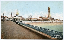ADVERTISING : WOOD MILNE BOOT / SHOE POLISH - BLACKPOOL FROM NORTH PEIR - Advertising
