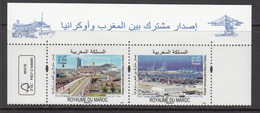 2013 Morocco Maroc Links With Ukraine Cruise Ships Port   Complete Pair MNH - Morocco (1956-...)