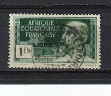 AFRIQUE EQUATORIALE FRANCAISE - Y&T N° 116° - Emile Gentil Surchargé LIBRE - A.E.F. (1936-1958)