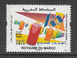 2015 Morocco Maroc Festival Jidar Culture    Complete Set Of 1 MNH - Morocco (1956-...)