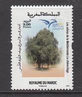 2016 Morocco Maroc Euromed Postal Trees Arbres    Complete Set Of 1 MNH - Morocco (1956-...)