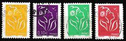 FRANCE : N° 3731-3732-3733-3734 Oblitérés (Marianne De Lamouche) - PRIX FIXE - - 2004-08 Marianne Of Lamouche