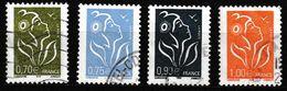 FRANCE : N° 3736-3737-3738-3739 Oblitérés (Marianne De Lamouche) - PRIX FIXE - - 2004-08 Marianne Of Lamouche