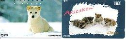 2 Télécartes Japon Japan Chien Dog Hund  Phonecard (D 604) - Dogs