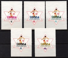 """TONGA - SOUTH PACIFIC GAMES 1975 / AIRMAIL SET PERFORE - PERFIN """"SPECIMEN"""" (ref 904a) - Tonga (1970-...)"""