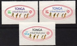 """TONGA - SOUTH PACIFIC GAMES 1975 / OFFICIAL AIRMAIL SET PERFORE - PERFIN """"SPECIMEN"""" (ref 904c) - Tonga (1970-...)"""