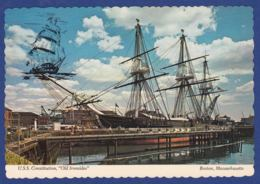U.S.S. Constitution, Boston (br7127) - Sailing Vessels