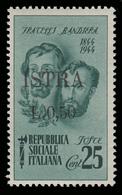 ISTRIA (POLA) - Occupazione Jugoslava  50 C. Su 25 C. Verde (Fratelli Bandiera) - 1945 - Nuovi