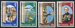 Bermudes ** N° 405 à 408 - 25 E Ann. Du Prix Du Duc D'Edimbourg - - Bermuda