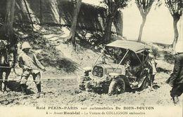 China, PEKING - PARIS Automobile Race, Collignon's Car Stuck At Hwaï-Laï (1907) - China