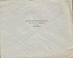 Spain JULIO F. COUTO Y Ca., FERROL 1921 Cover Brief HAMBURG Germany Alphonse XIII. - 1889-1931 Königreich: Alphonse XIII.