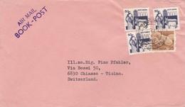 BUSTA VIAGGIATA  AIR MAIL - INDIA - TIRUVANNAMALAI - VIAGGIATA PER  CHIASSO TICINO / SWITZERLAND - India