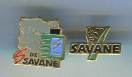 2 Pin's - SAVANE Parfum Panthère - Perfume