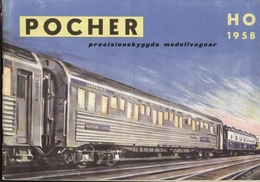 Catalogue POCHER HO 1958 Precisionsbyggdan Modellvagnar Swedish Edition + Preis SEK - En Suédois - Livres Et Magazines