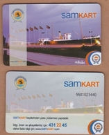 AC - MULTIPLE RIDE BUS PLASTICCARD SAMSUN, TURKEY PUBLIC TRANSPORTATION - Titres De Transport