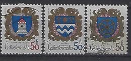 Czechoslovakia 1985  Arms (o) Mi.2797-2799 - Czechoslovakia