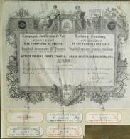 Compagnie Du Chemin De Fer De Charleroy Charleroi  Railway Company ( Aandeel Obligation Action ) - Spoorwegen En Trams