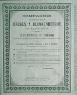 Compagnie Du Chemin De Fer De Bruges à Blankenberghe 1878 ( Aandeel Obligation Action ) Brugge Blankenberge - Chemin De Fer & Tramway