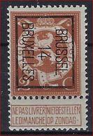 PREO Nr. 50 B MNH  ** 1914 - BRUSSEL 14 BRUXELLES En In Goede Staat ; Zie Ook Scan ! - Precancels