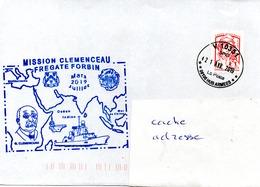 FREGATE FORBIN Mission CLEMENCEAU Obl. V 10351 21/04/19 - Marcophilie (Lettres)