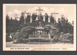 Moresnet - Salut De Moresnet Belge - Kreuzigungsgruppe Auf Dem Calvarienberg / Calvaire - 1920 - éd. Hubert Grümmer - Plombières