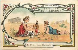 - Chromos- Ref-chA356- Chocolat Du Planteur - Thé De La Compagnie Française /poupée Dans Antiquité - Poupées - Jouets - - Chocolat