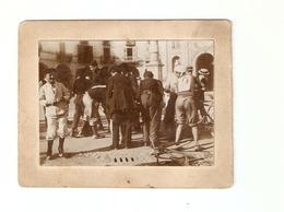 FO--154-- FOTO ORIGINALE - GARA CICLISTICA PRIMI ANNI DEL 1900 SU SUPPORTO DI CARTONE - Ciclismo