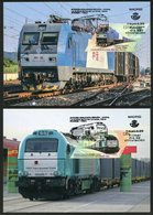 ESPAÑA / SPAIN / ESPAGNE (2019) - Joint Issue CHINA - Nueva Ruta De La Seda Tren Madrid - Yiwu / Trains - Maximum Cards - Trenes