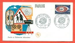 TELECOMUNICAZIONI - RADIO E TELEVISIONE - FRANCIA 1967 - MARCOFILIA - Poste & Postini