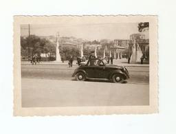 """FO--158-- FOTO ORIGINALE - AUTOMOBILE """" FIAT TOPOLINO CONVERTIBILE """"- SIGNORA CON BAMBINO VESTITO ALLA MARINARA - Automobili"""