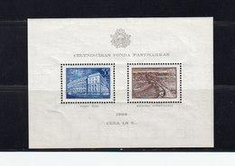 Lettonie.Bloc 1938 Neuf, Gomme, Sans Charnière Au Profit Des Bâtiments Nationaux. (2379x) - Latvia
