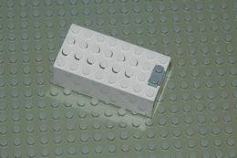 Lego Electric Boitier Pile 9v Blanc Ref 4760c01 - Lego Technic
