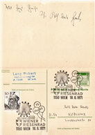 Germany Used Postal Stationery Cards With Answer Card From 1971 - [7] Federal Republic
