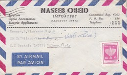 BUSTA VIAGGIATA AIR MAIL - SIRIA - DAMASCUS - NASEEB OBEI IMPORTERS - VIAGGIATA PER TORINO / ITALIA - Siria