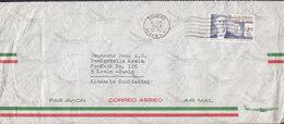 Mexico Par Avion Aereo Air Mail MEXICO City 1964 Cover Brief DEUTSCHE BANK, KÖLN Germany Charles De Gaulle Stamp - Mexiko