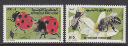 1996 Tunisia Tunisie  Insects Bees Ladybirds Complete Set Of 2 MNH - Tunisia (1956-...)