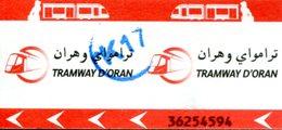 Tramway D'Oran (Algérie) - Ticket Avec Cachet K17 - Tramways