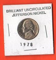 USA 5 Cents 1978 D Jefferson  UNC - Emissioni Federali
