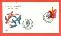 MEDICINA - GIORNATA MONDIALE DELLA SANITA' - ONU GINEVRA 1972 - MARCOFILIA - Francobolli