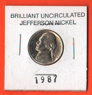 USA 5 Cents 1987 P Jefferson  UNC - 1938-…: Jefferson