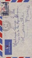 20250# REUNION NANCY CFA LETTRE PAR AVION Obl POINTE DES GALETS 1950 Pour MARSEILLE BOUCHES DU RHONE - Reunion Island (1852-1975)