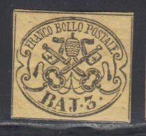 Etats Pontificaux 1852 Yvert 4 * TB Charniere(s) - Etats Pontificaux