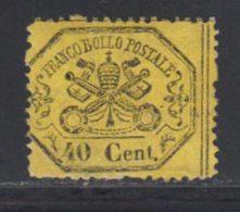 Etats Pontificaux 1868 Yvert 24 * B Charniere(s) - Etats Pontificaux