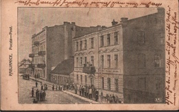 ! Alte Ansichtskarte Pabianice, Poczta, Postamt, 1915, Polen - Polen