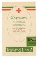 WW I -CROCE ROSSA-CONFORTO FERITI-PROGRAMMA CONCERTI E TRATTENIMENTI-VOLANTINO (4/43) - Documents Historiques