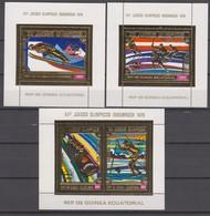Equatorial Guinea 10.03.1975 Mi # Bl 161-63, 1976 Innsbruck Winter Olympics (II) MNH OG - Winter 1976: Innsbruck